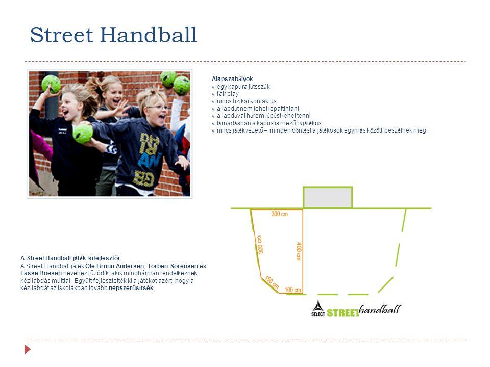 Street Handball Alapszabályok v egy kapura játsszák v fair play
