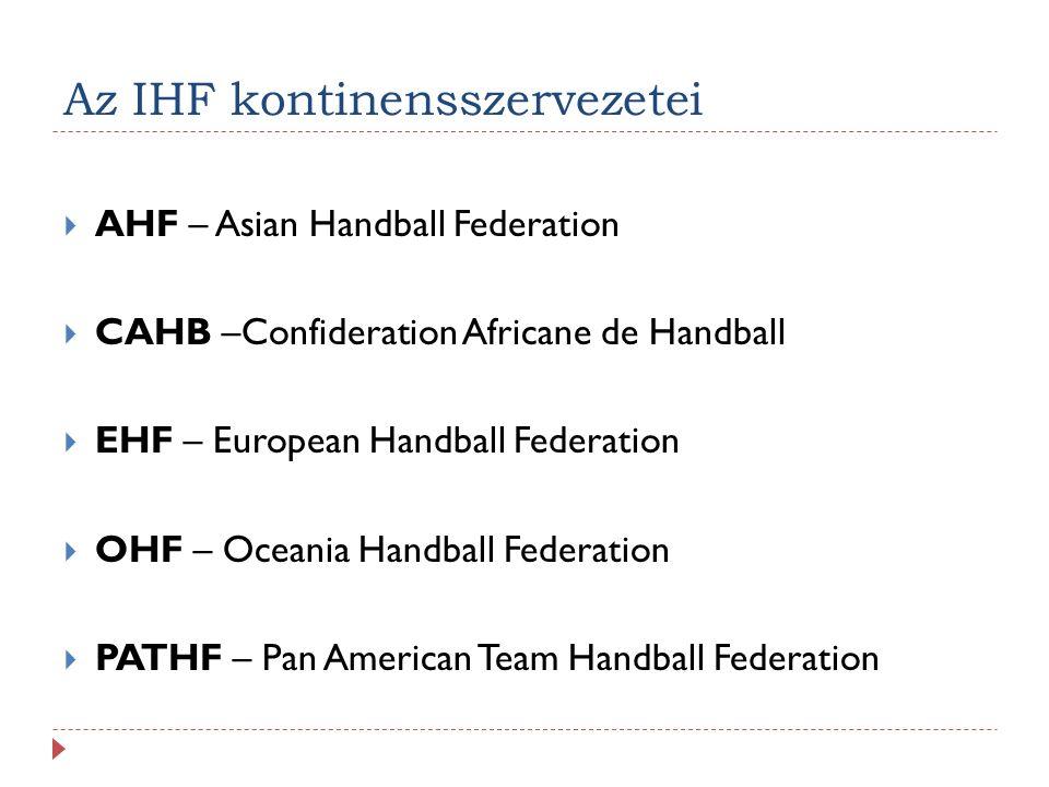 Az IHF kontinensszervezetei