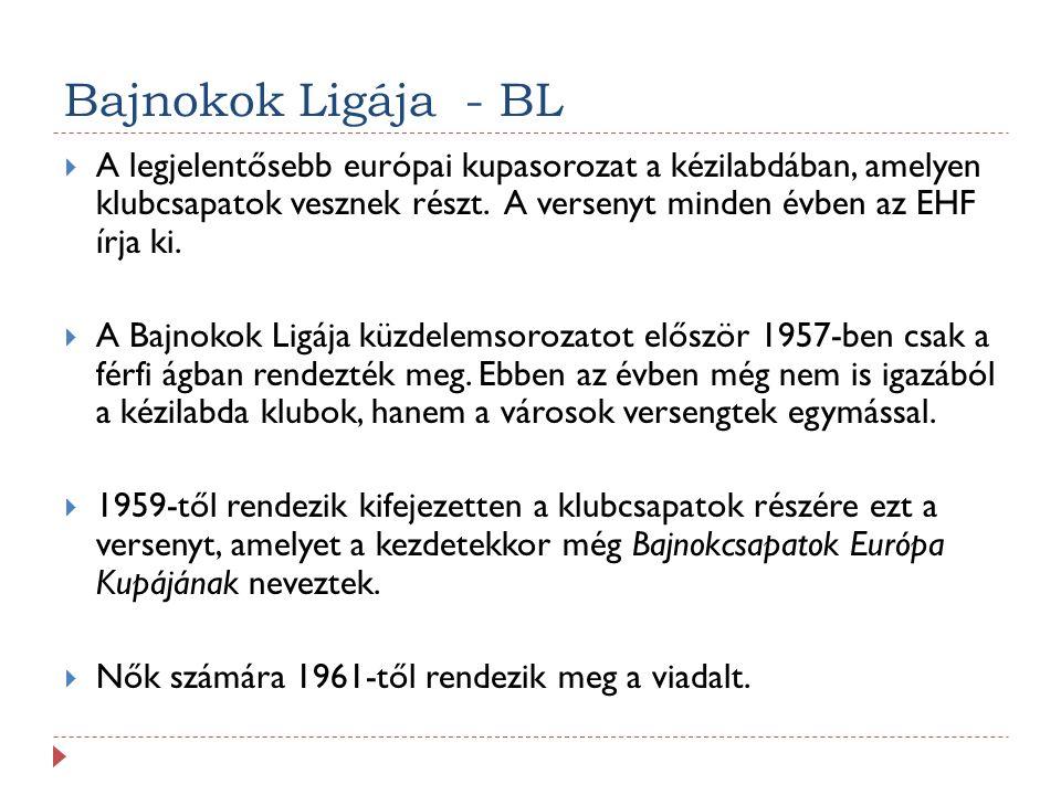 Bajnokok Ligája - BL