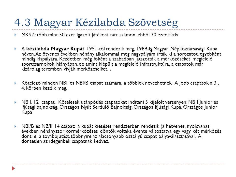 4.3 Magyar Kézilabda Szövetség