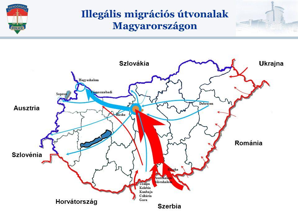 Illegális migrációs útvonalak Magyarországon