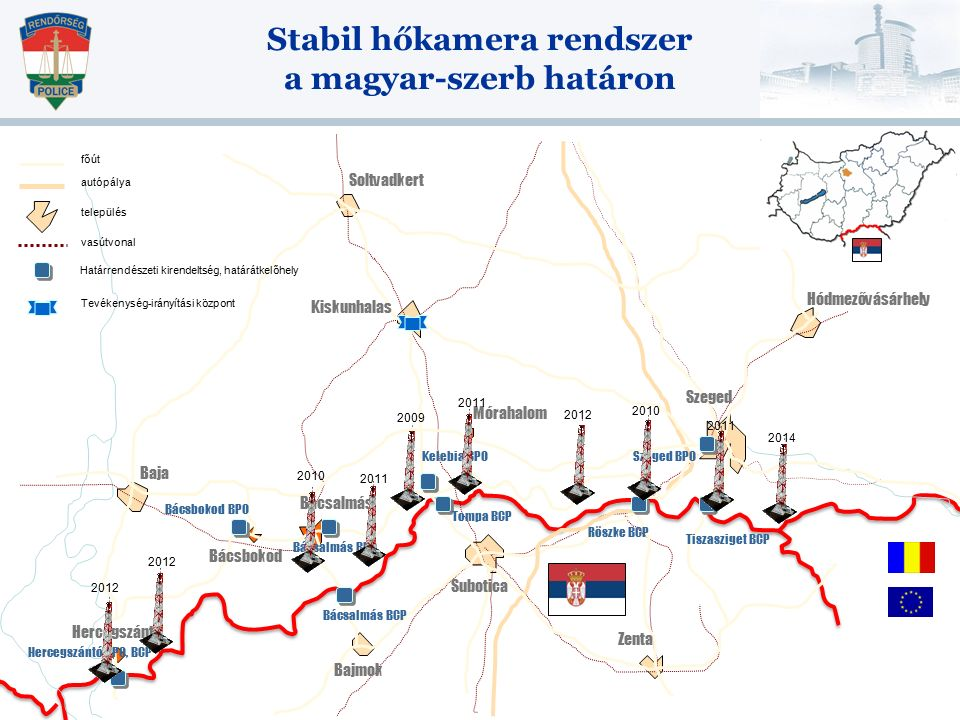 Stabil hőkamera rendszer a magyar-szerb határon