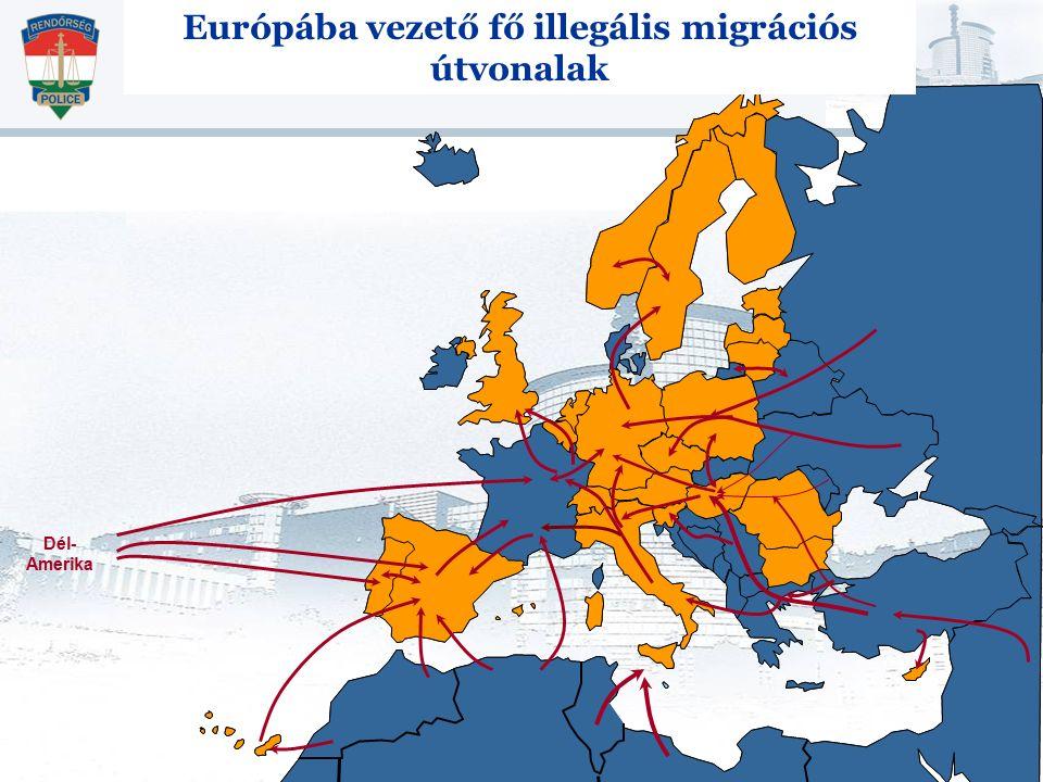 Európába vezető fő illegális migrációs útvonalak