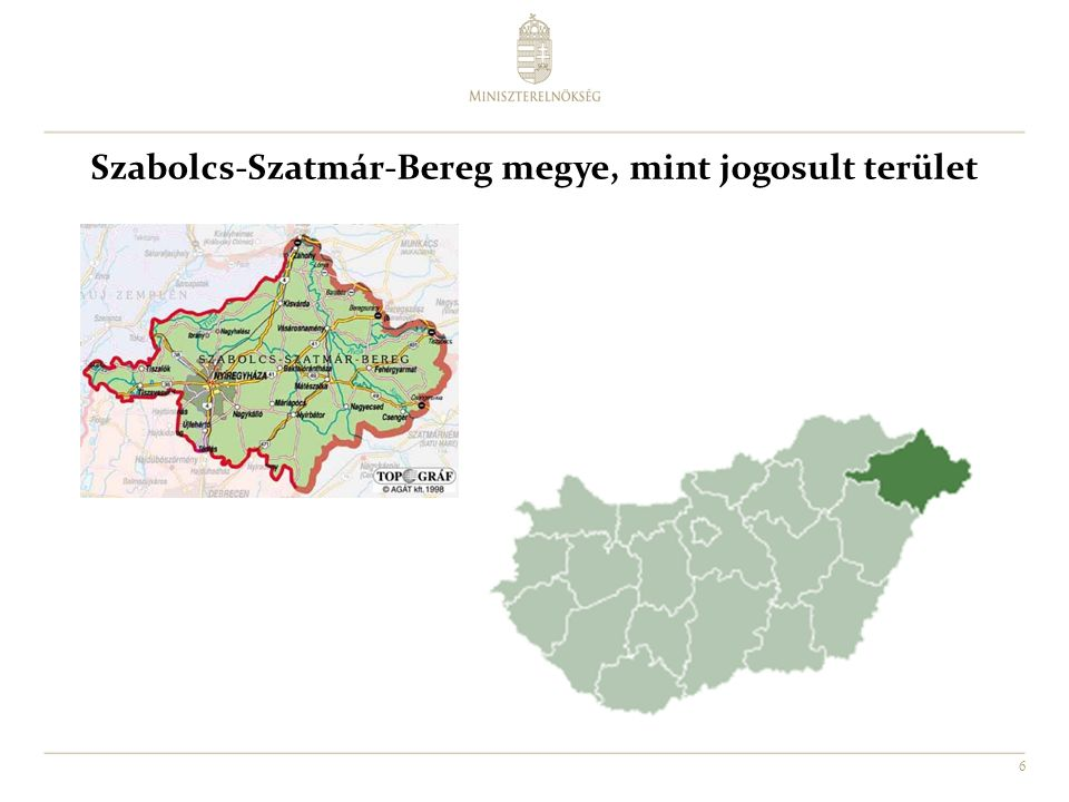 Szabolcs-Szatmár-Bereg megye, mint jogosult terület