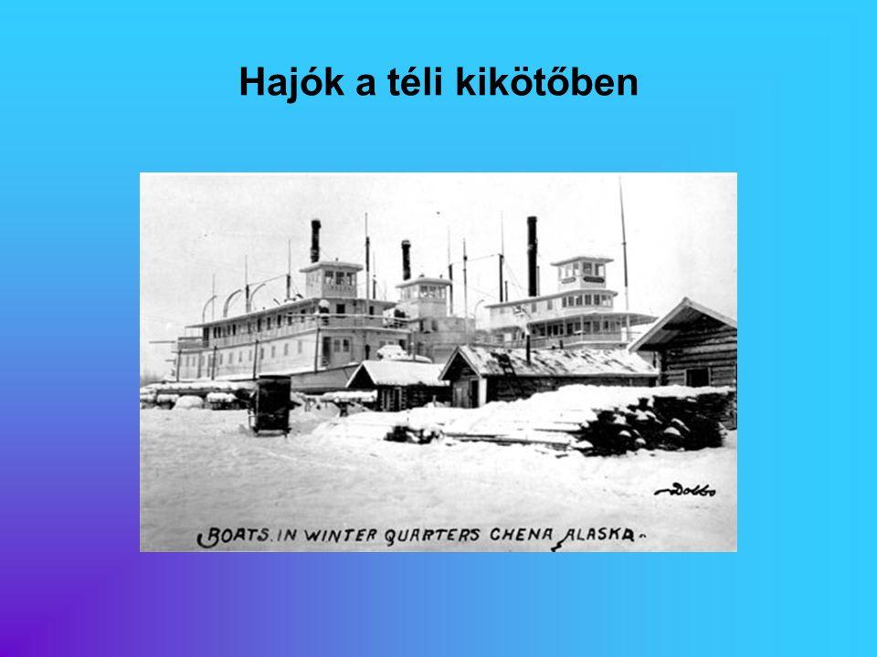 Hajók a téli kikötőben Eredeti képaláírás:
