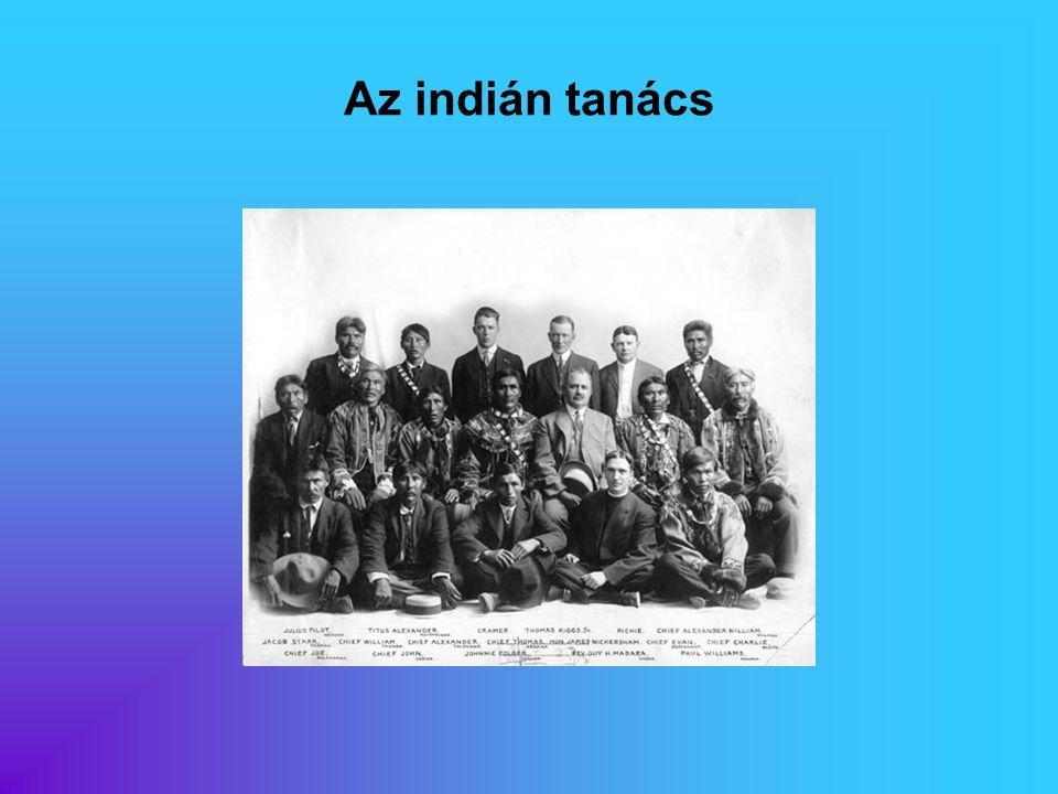 Az indián tanács Eredeti képaláírás: