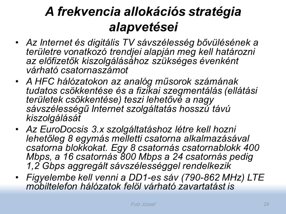 A frekvencia allokációs stratégia alapvetései
