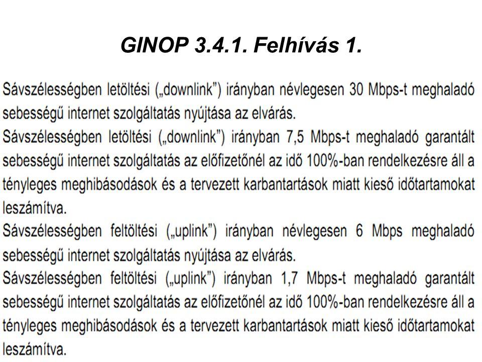 GINOP 3.4.1. Felhívás 1.