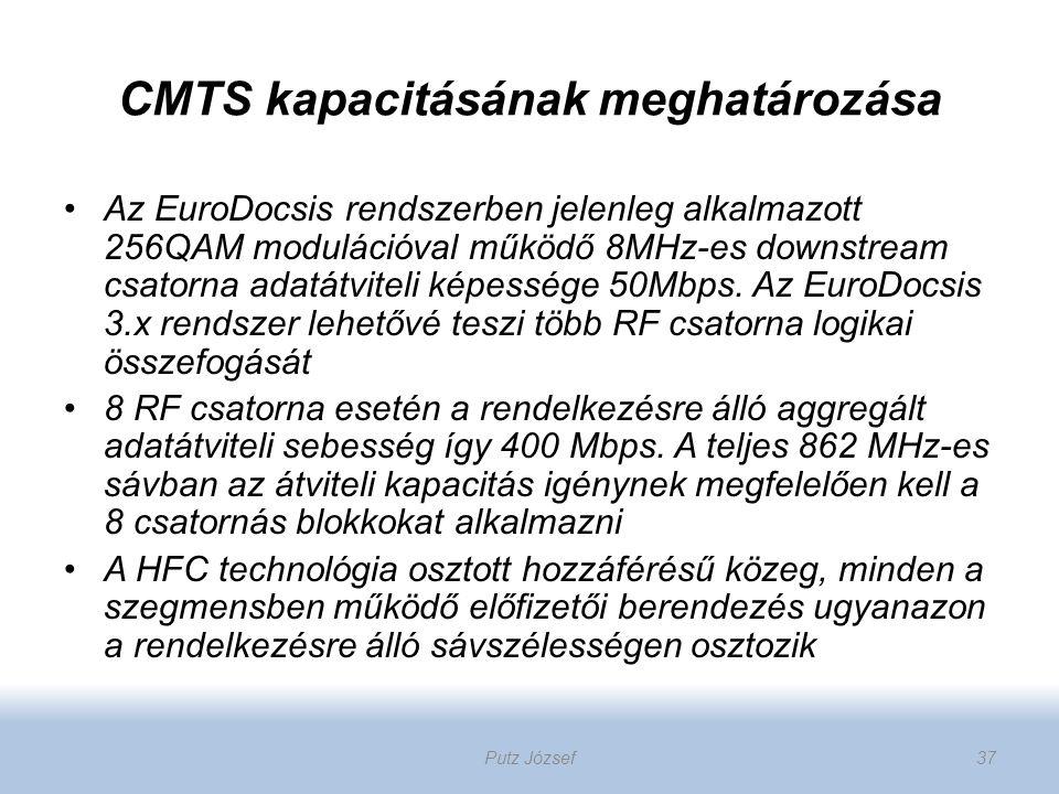 CMTS kapacitásának meghatározása