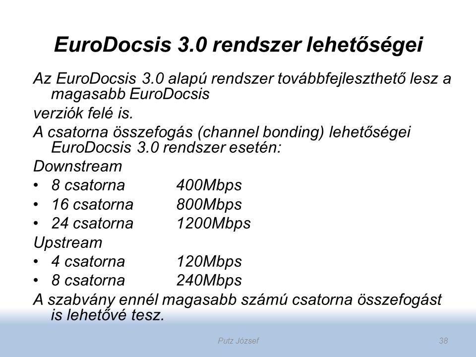EuroDocsis 3.0 rendszer lehetőségei