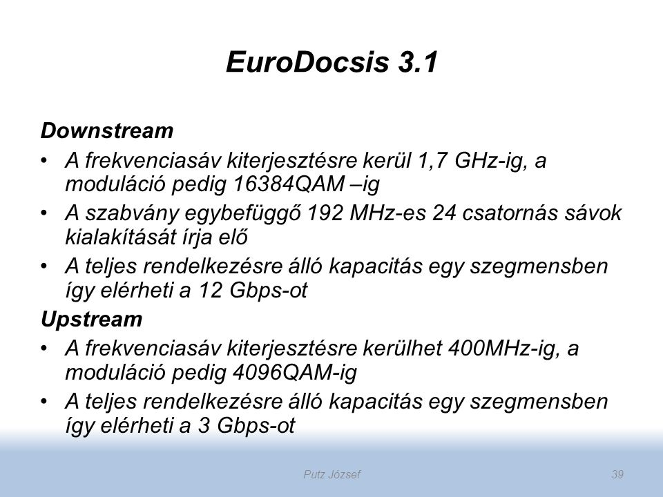 EuroDocsis 3.1 Downstream