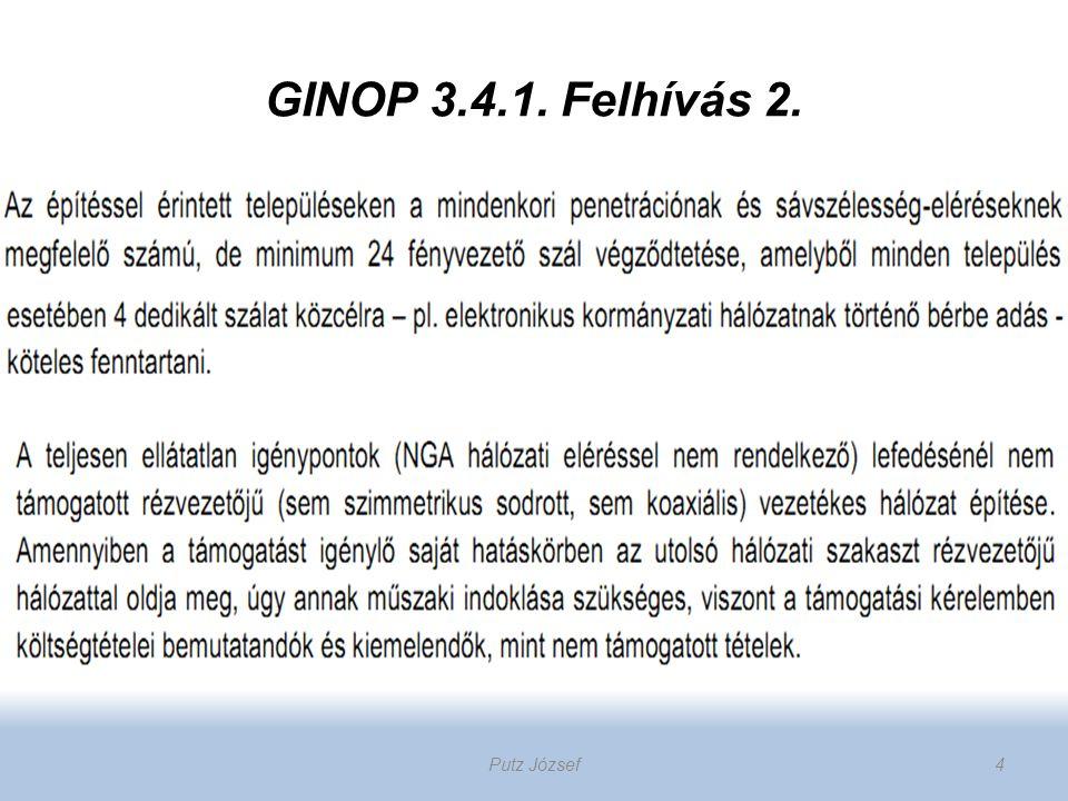 GINOP 3.4.1. Felhívás 2. Putz József 4