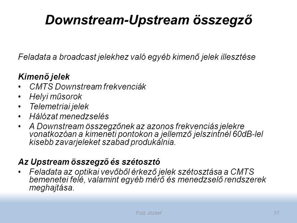 Downstream-Upstream összegző