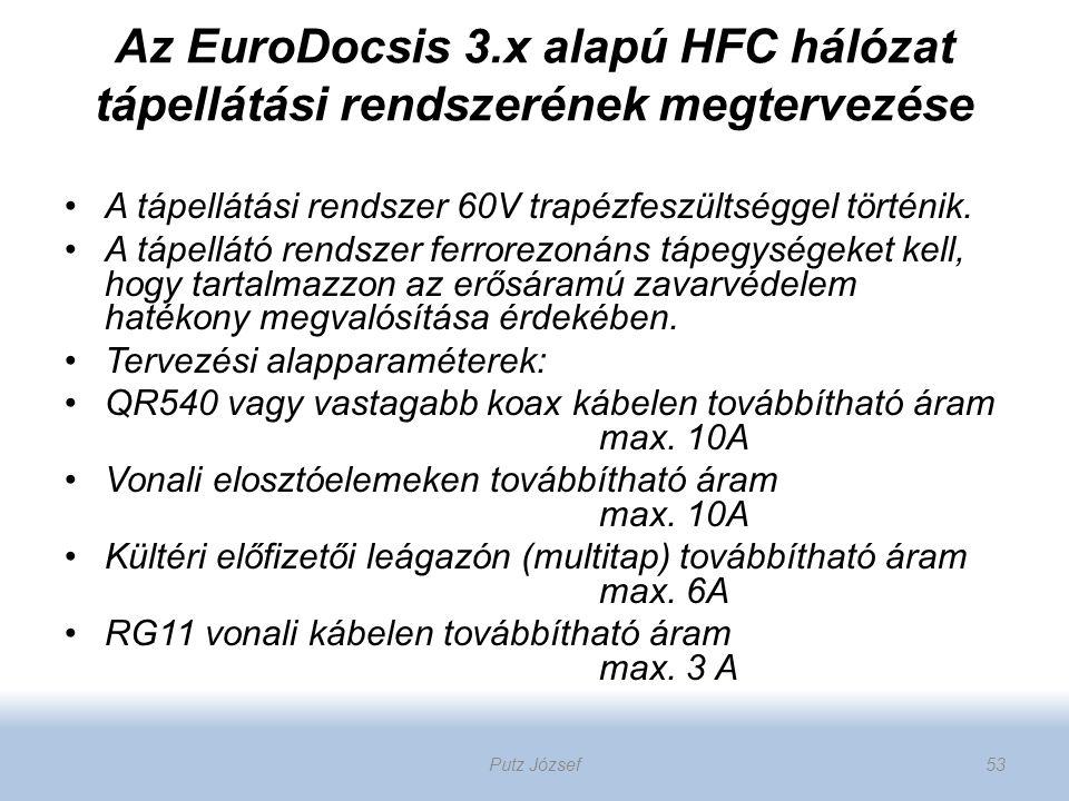 Az EuroDocsis 3.x alapú HFC hálózat tápellátási rendszerének megtervezése