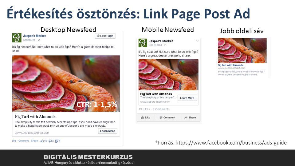 Értékesítés ösztönzés: Link Page Post Ad