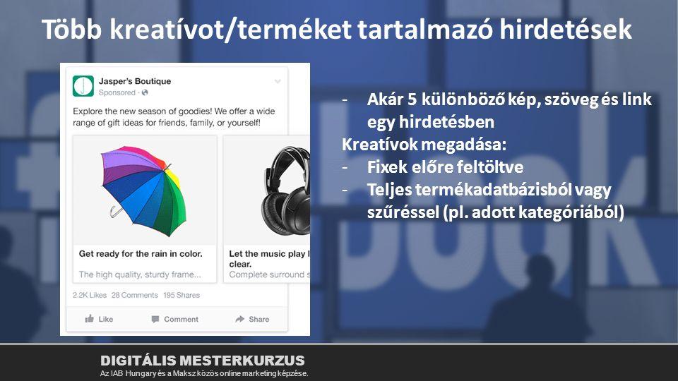 Több kreatívot/terméket tartalmazó hirdetések
