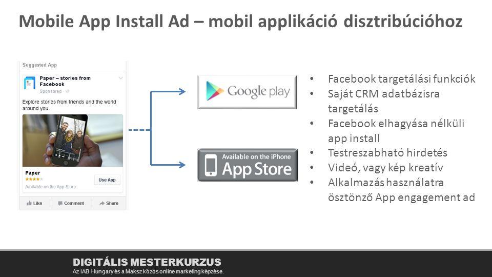 Mobile App Install Ad – mobil applikáció disztribúcióhoz