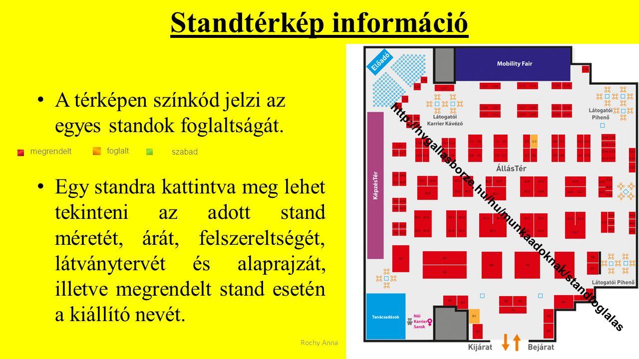 Standtérkép információ