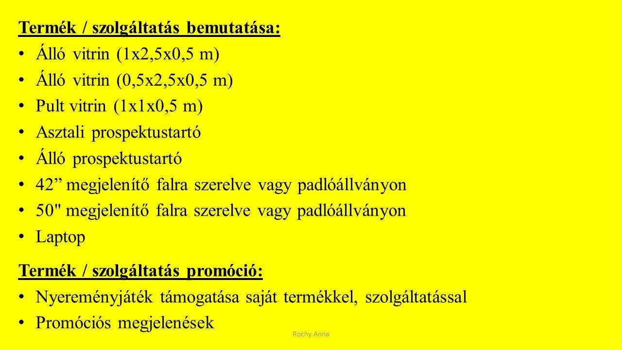 Termék / szolgáltatás bemutatása: Álló vitrin (1x2,5x0,5 m)