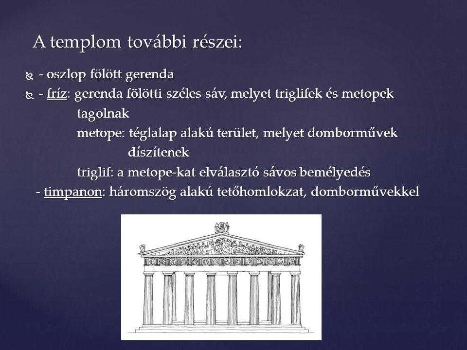 A templom további részei: