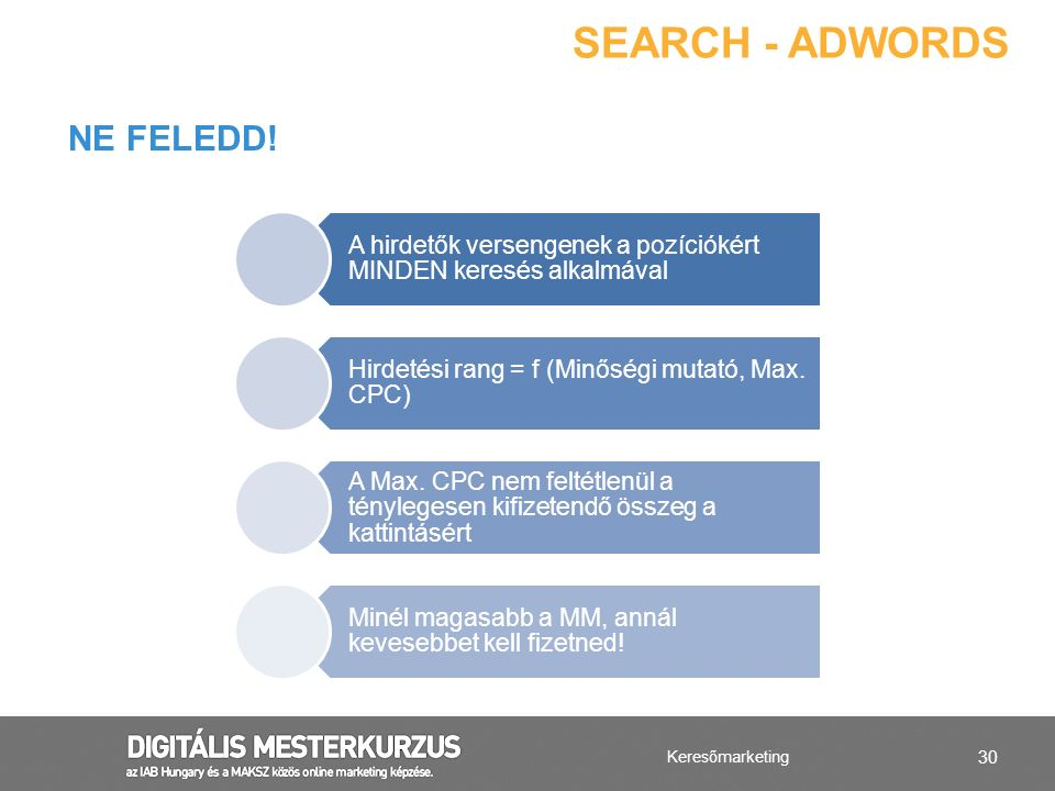 Search - AdWords Ne feledd!