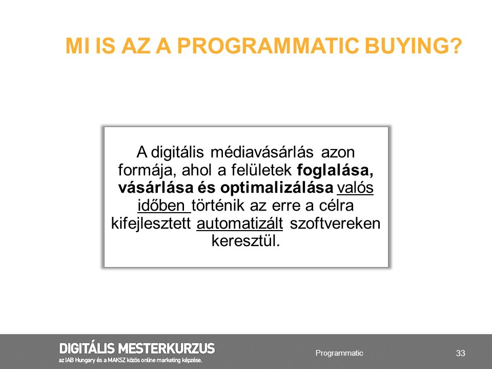 MI IS AZ A PROGRAMMATIC BUYING