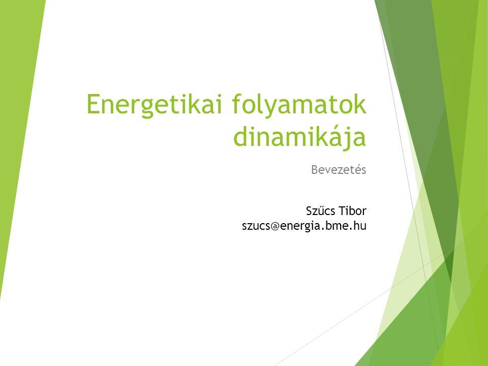 Energetikai folyamatok dinamikája