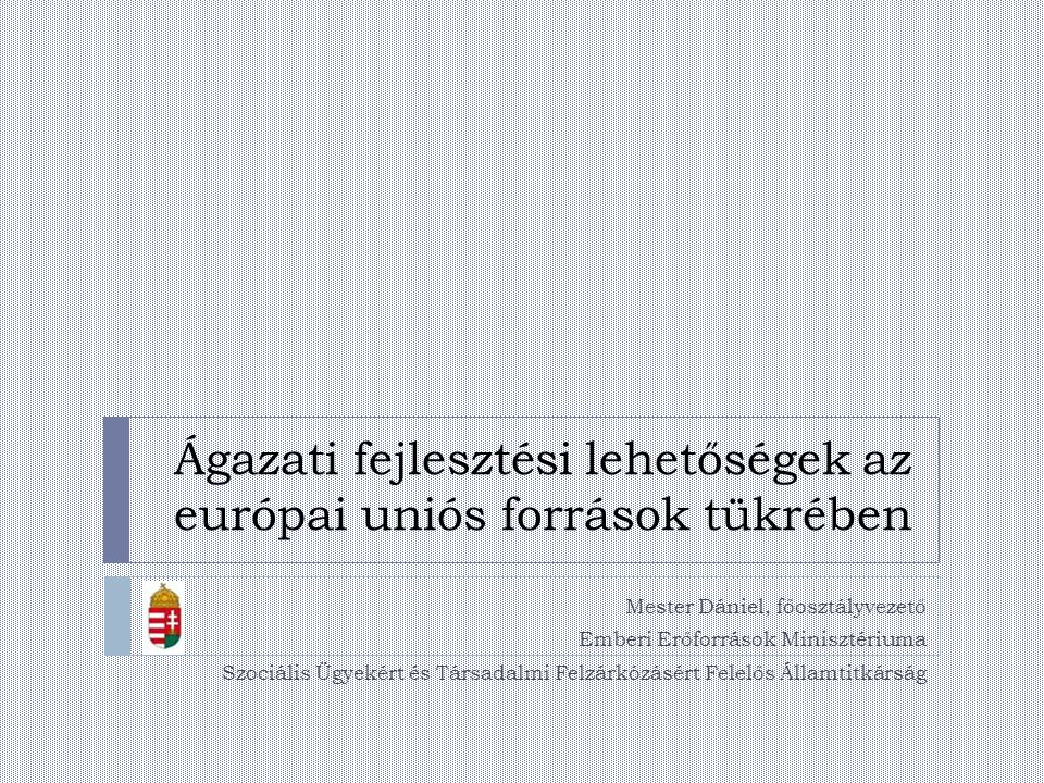 Ágazati fejlesztési lehetőségek az európai uniós források tükrében