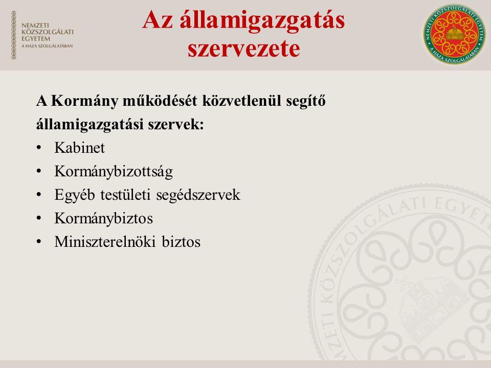 Az államigazgatás szervezete
