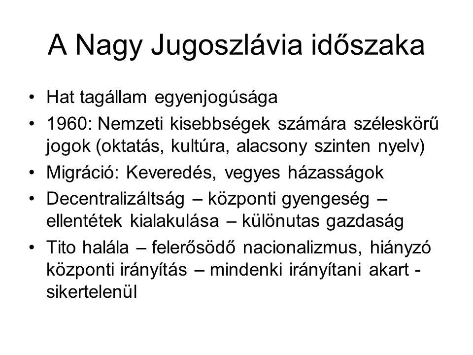 A Nagy Jugoszlávia időszaka