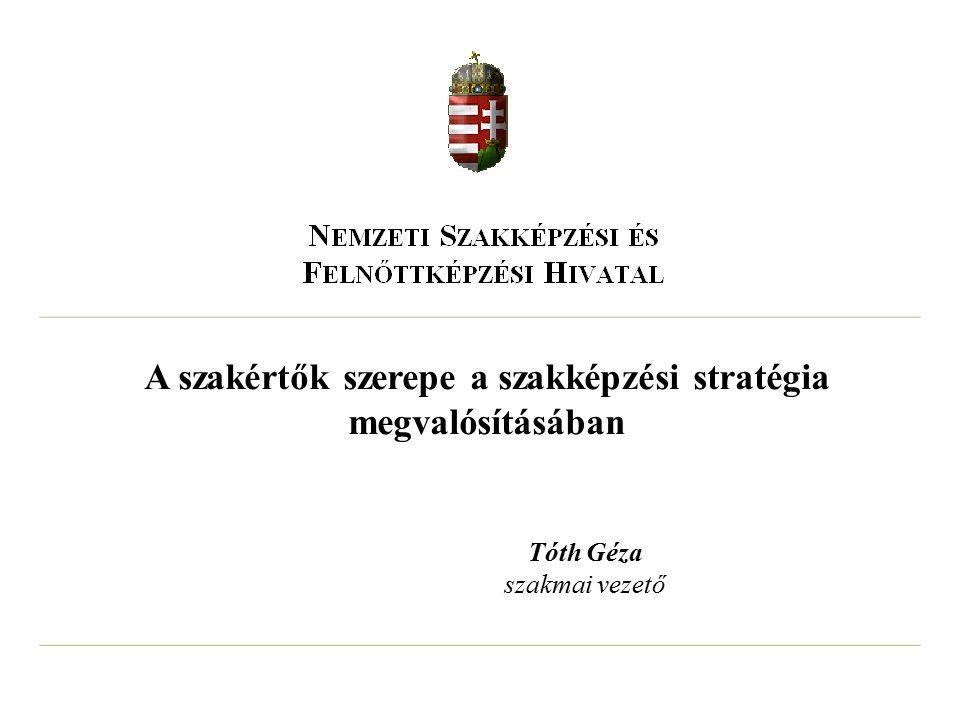 A szakértők szerepe a szakképzési stratégia megvalósításában