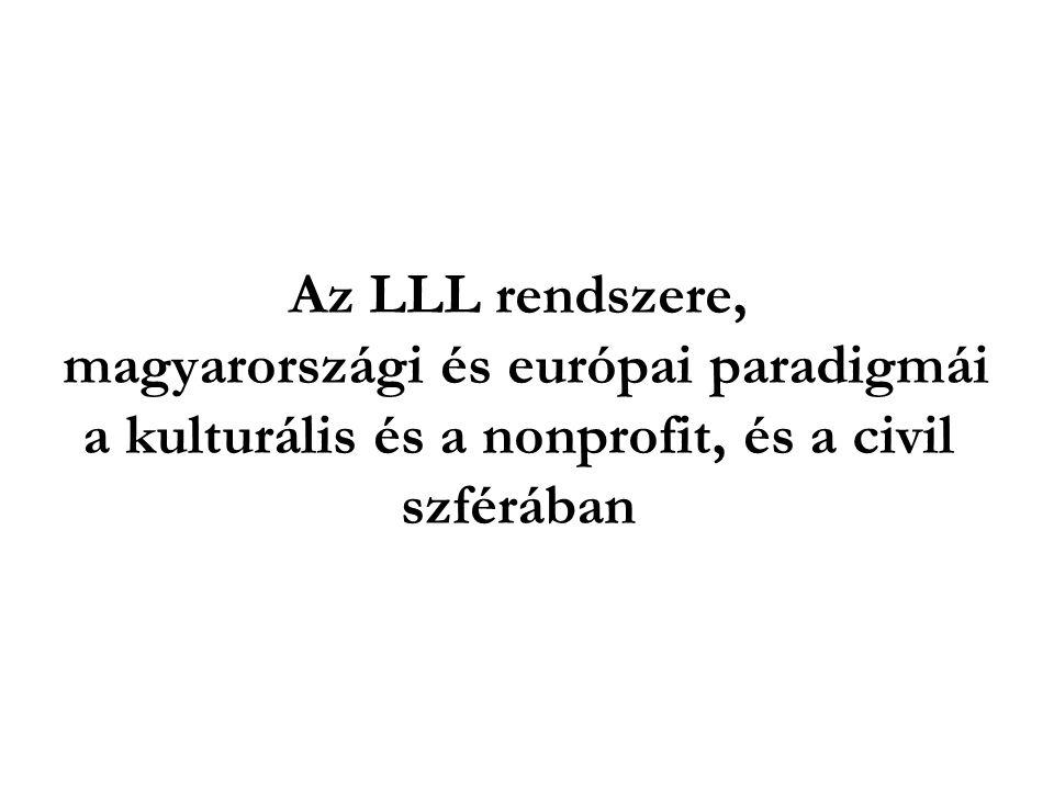 Az LLL rendszere, magyarországi és európai paradigmái a kulturális és a nonprofit, és a civil szférában
