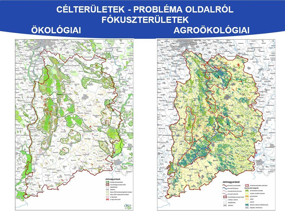 Célterületek - Probléma oldalról fókuszterületek Ökológiai