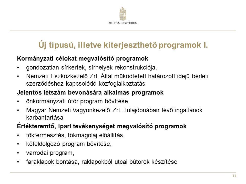 Új típusú, illetve kiterjeszthető programok I.