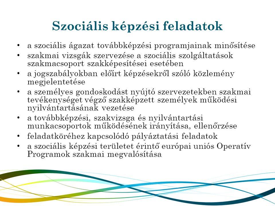 Szociális képzési feladatok