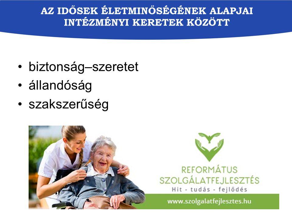 Az idősek életminőségének alapjai intézményi keretek között