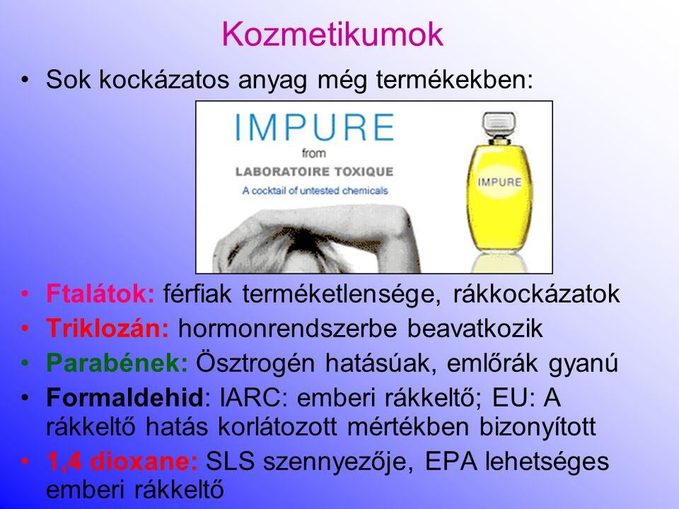 Kozmetikumok Sok kockázatos anyag még termékekben: