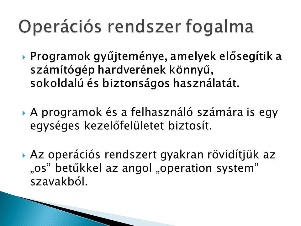 Operációs rendszer fogalma