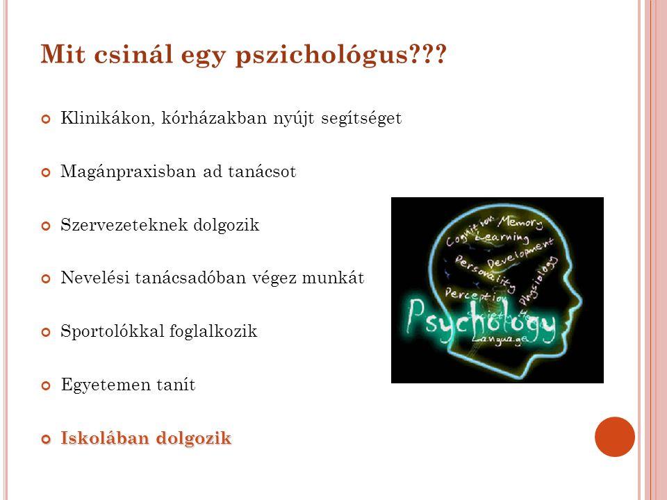 Mit csinál egy pszichológus