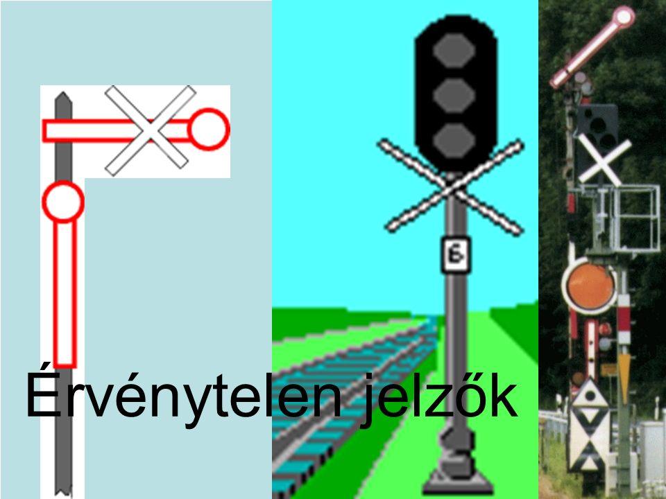 Érvénytelen jelzők Ein weißes Kreuz. Das Signal ist ungültig.