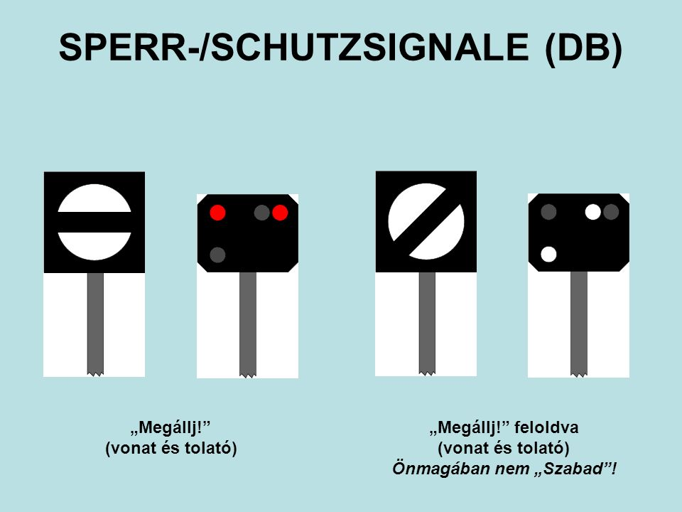 SPERR-/SCHUTZSIGNALE (DB)