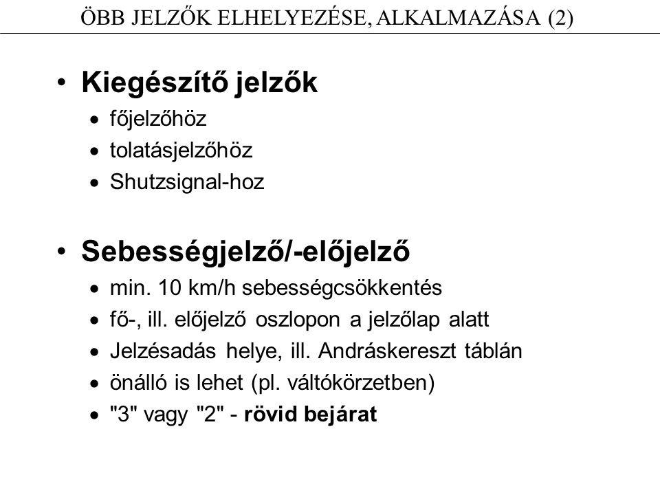 ÖBB JELZŐK ELHELYEZÉSE, ALKALMAZÁSA (2)