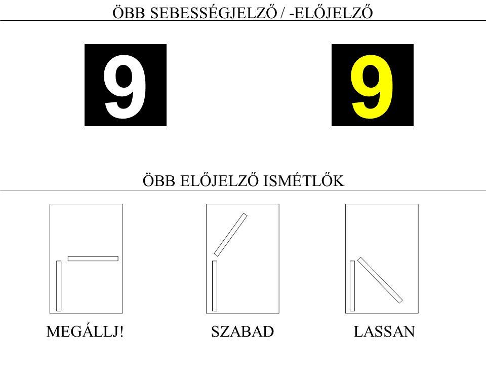 ÖBB SEBESSÉGJELZŐ / -ELŐJELZŐ