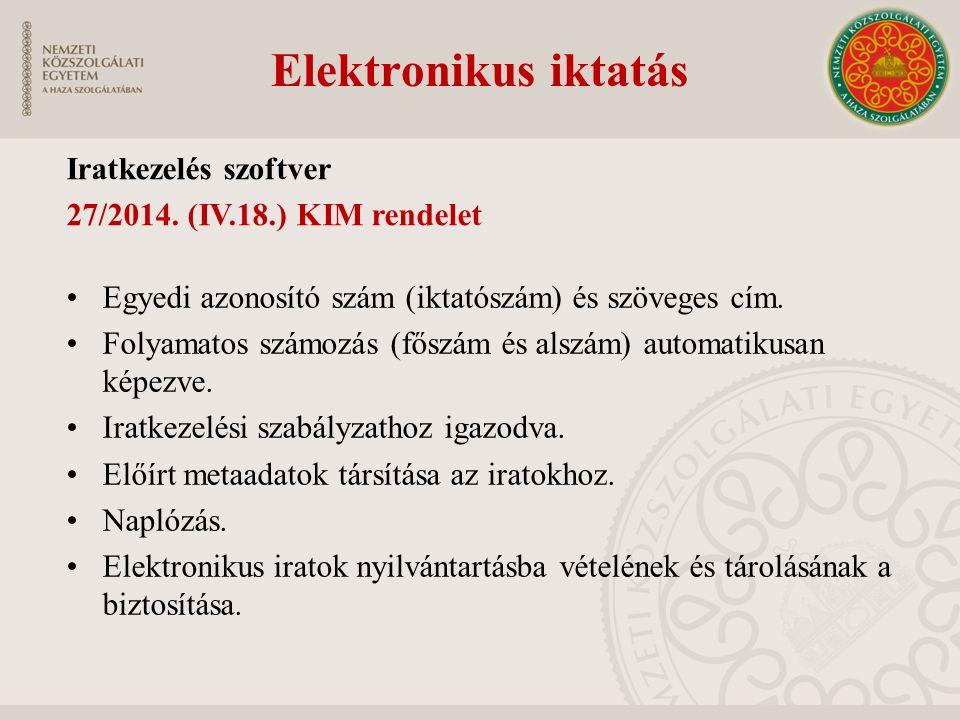 Elektronikus iktatás Iratkezelés szoftver