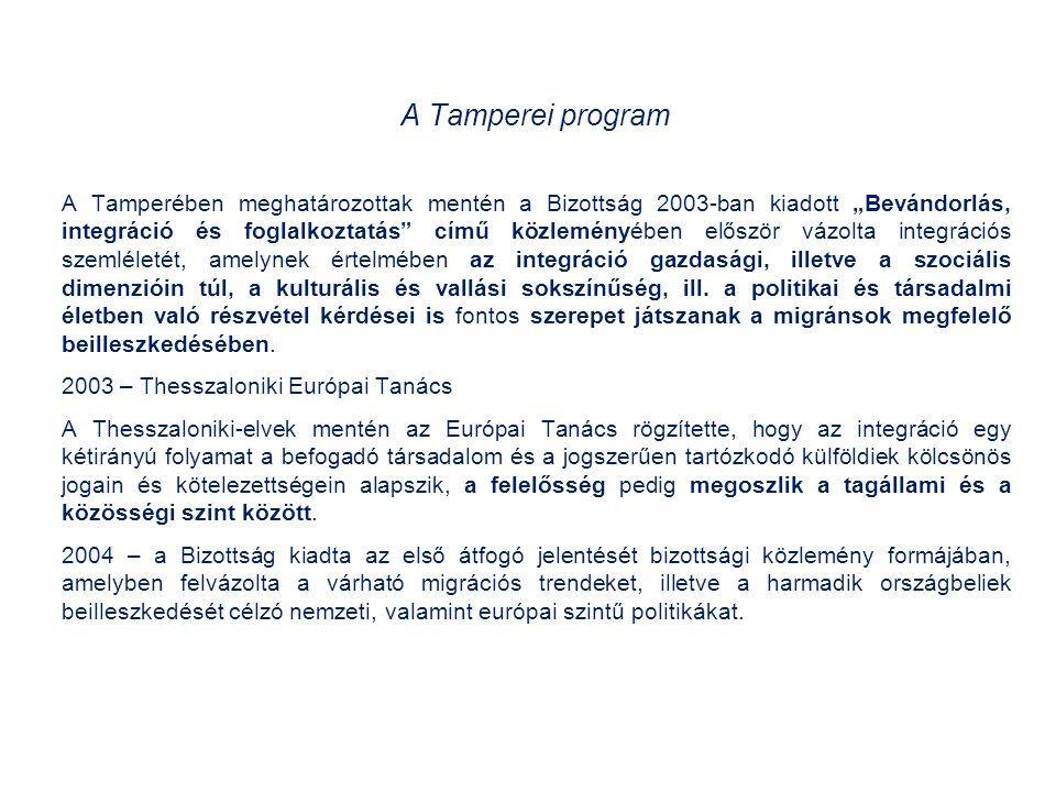 A Hágai program: a szabadság a biztonság és a jog érvényesülésének erősítése az Európai Unióban