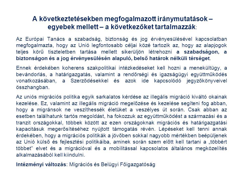 Az Európai Migrációs Stratégia European Agenda on Migration