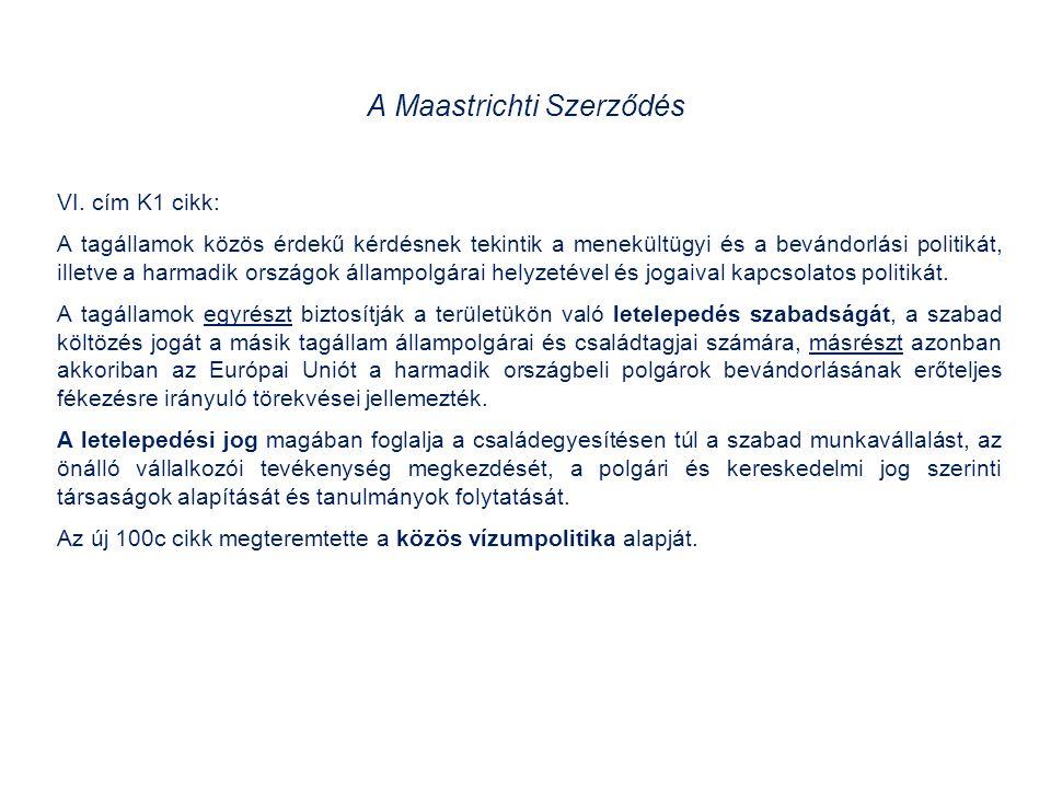 A Schengeni Megállapodás és a Végrehajtási Egyezmény