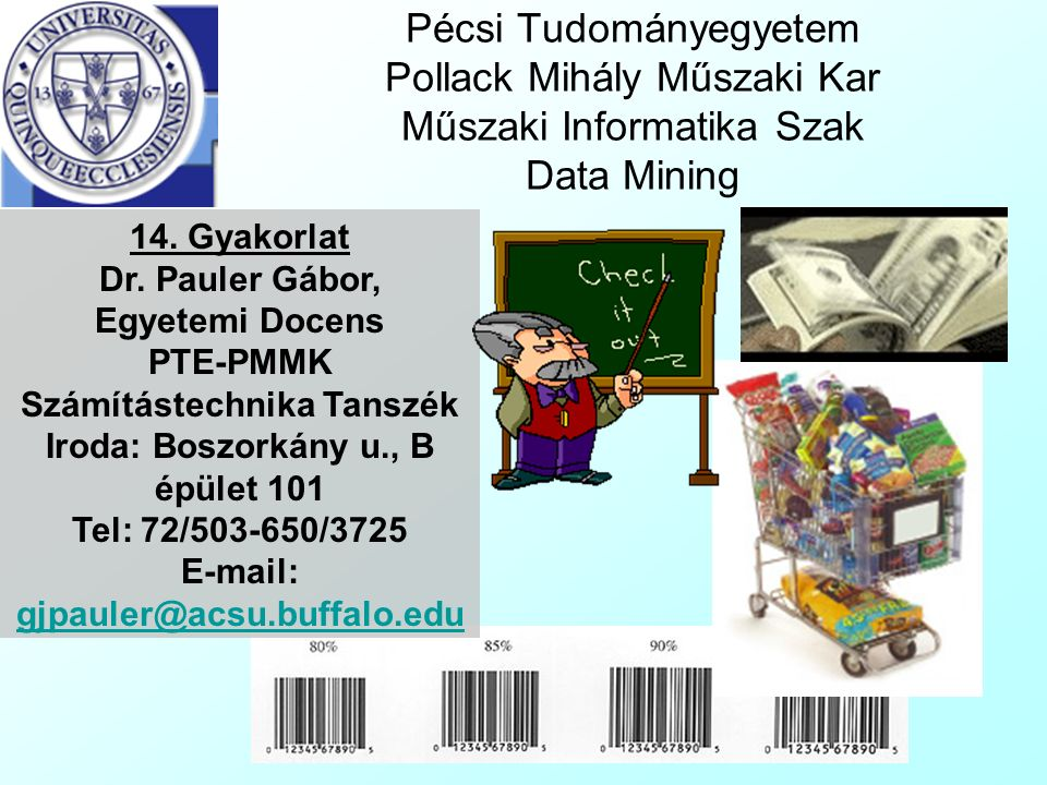 Pécsi Tudományegyetem Pollack Mihály Műszaki Kar Műszaki Informatika Szak Data Mining