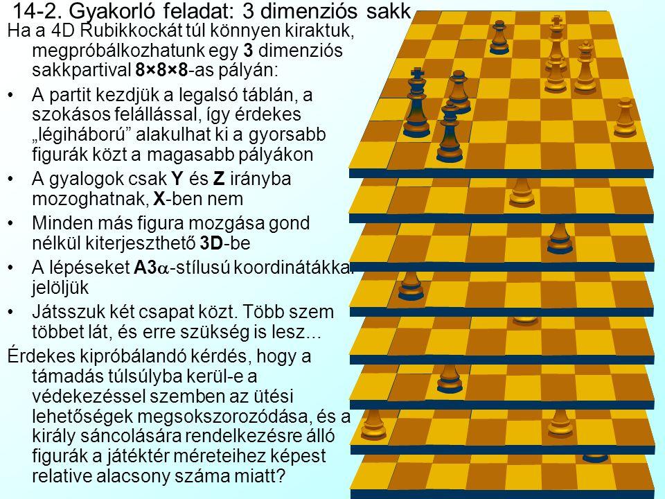 14-2. Gyakorló feladat: 3 dimenziós sakk