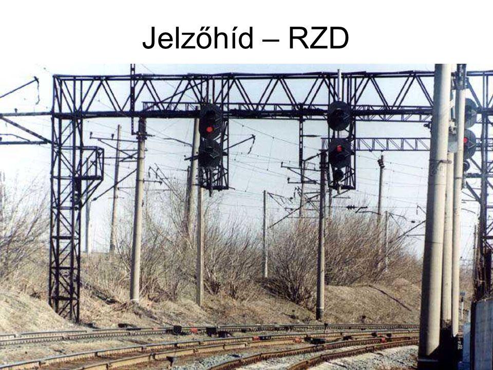Jelzőhíd – RZD A régi Szovjetunió felbomlása után az utódvasutak általában megtartották a SzZsD jelzésrendszerét. Sőt,a jelzési utasítást is.